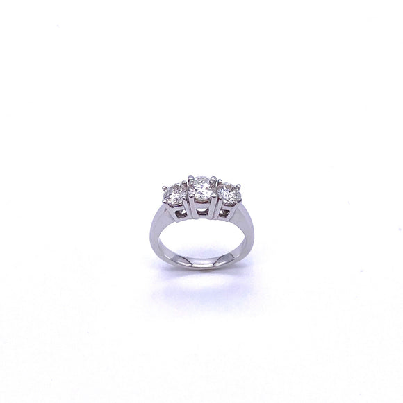 Round Brilliant Three Stone Diamond Ring A025TRS150BW