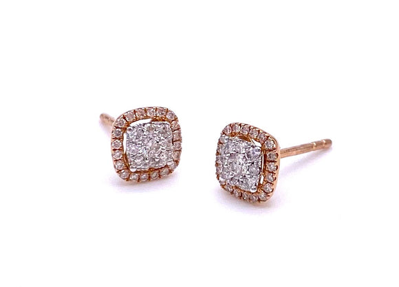 Diamond Earrings in Rose Gold A093UE1887A-3