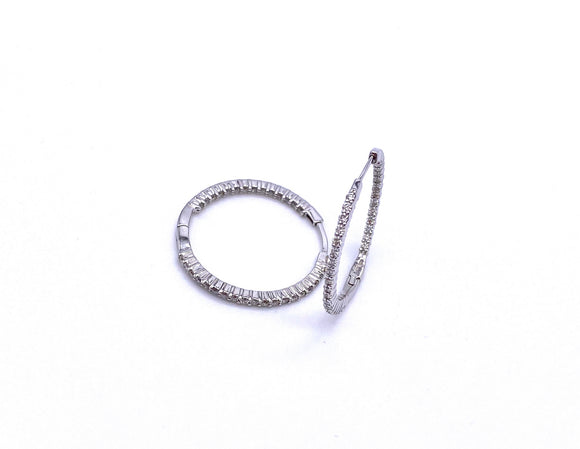 Inside Out Diamond Hoop Earrings A330B301002