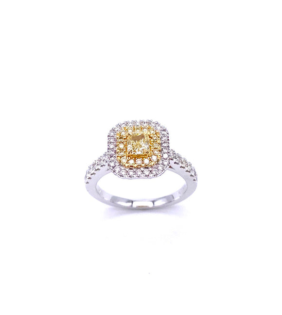 Yellow Diamond Ring in White Gold A093FR250WY
