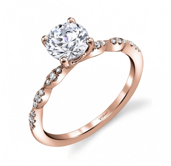 Coast Diamond Rose Gold Engagement Ring A038LC6101