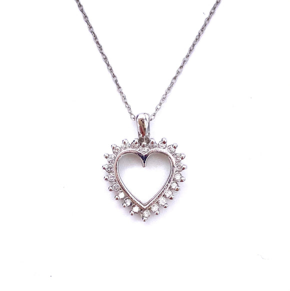 Sparkling Diamond Heart Necklace F096R0011