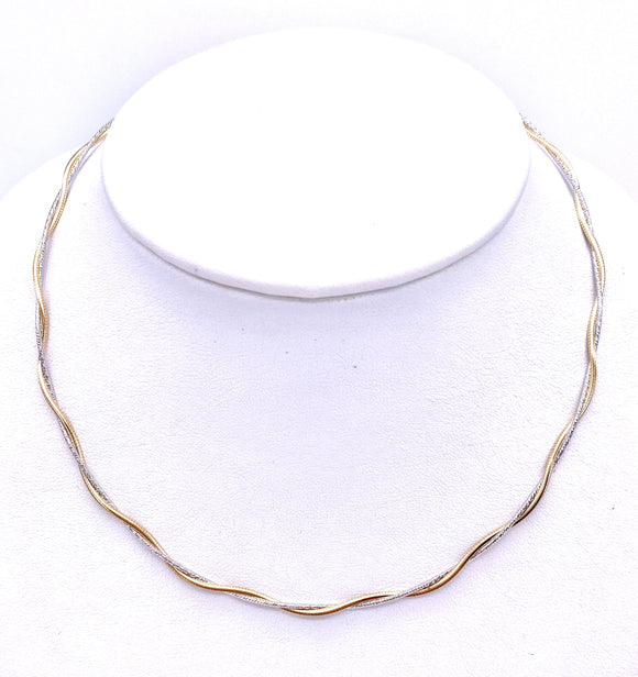 Two Tone Gold Twist Necklace F345025XT1700