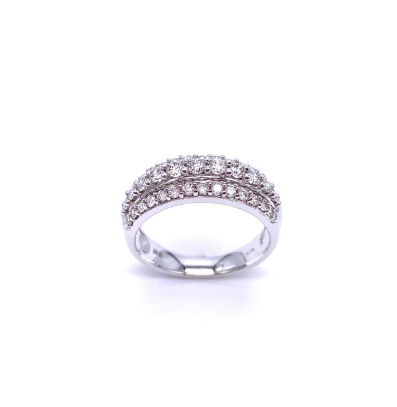 Lovely Diamond Band in White Gold A330B284227