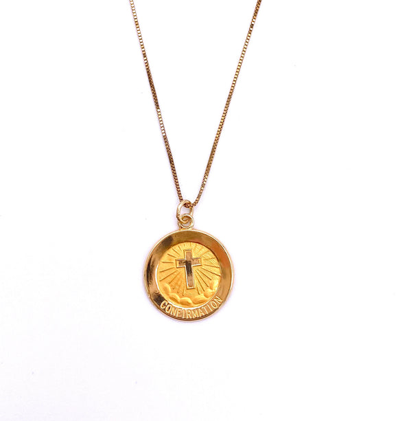 Yellow Gold Confirmation Necklace F818R5045