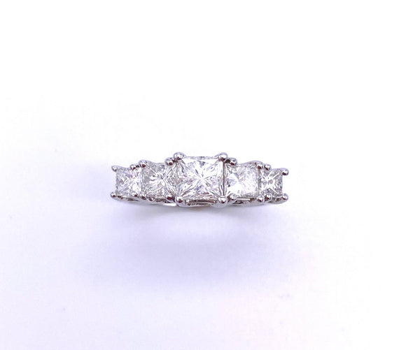 A Ring of Princess Cut Diamonds A302USB01816