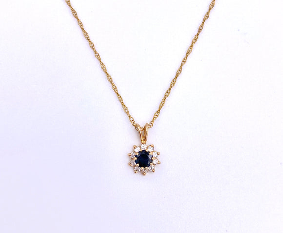Sapphire and Diamond Necklace F096P0672