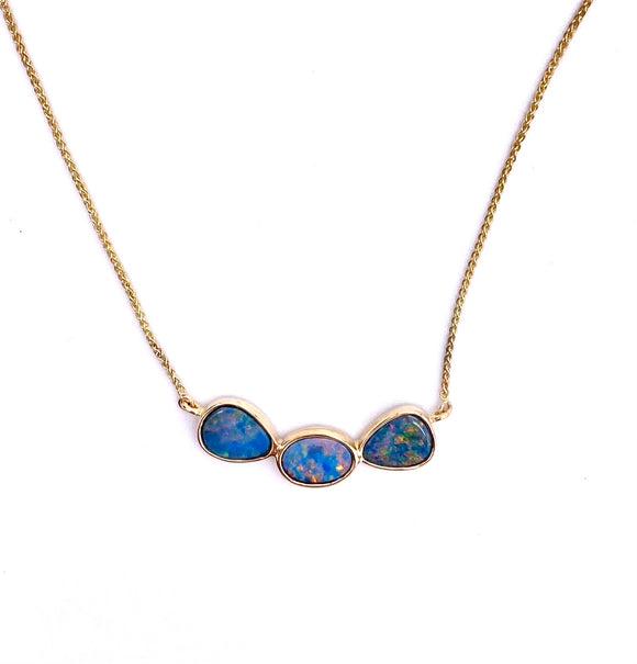 Boulder Opal Triple Stone Necklace F368NOD2481BXCI