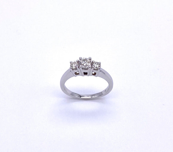 Three Stone Diamond Ring A025TSR75BW