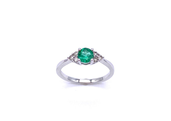 Emerald Ring With Diamond Accents C245HDR1170EWB