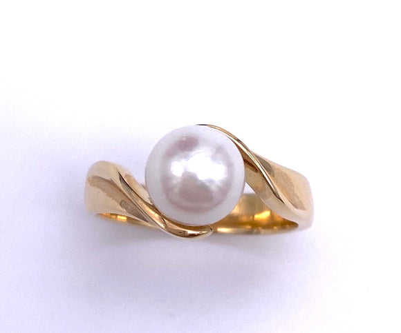 Pearl Freeform Ring in 14K Yellow Gold C333PR202/4