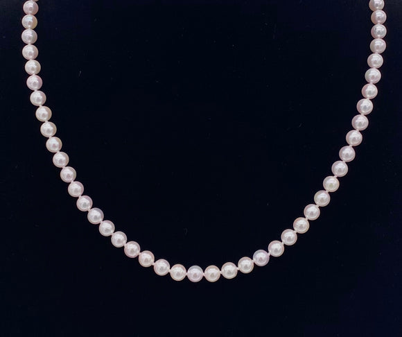 "20"" Strand of Akoya Pearls F33013131"