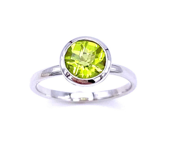 Contemporary Bezel Set Peridot Ring C330B218853