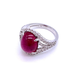 Stunning Rubellite and Diamond Ring by Cordova A0092016RB