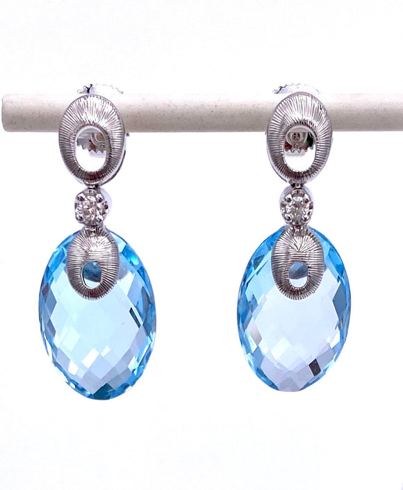 Cordova Blue Topaz Dangle Earrings A00920238BT