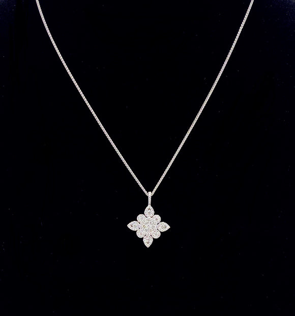 Beautiful Diamond Necklace in White Gold A0092227211