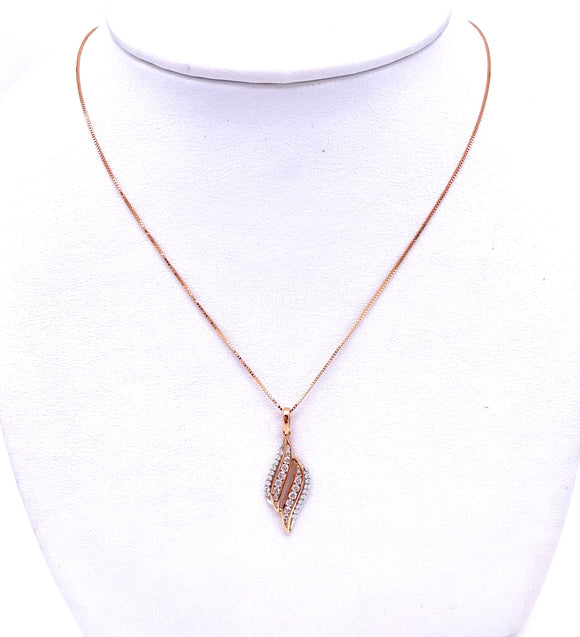 Diamond necklace in Rose Gold A604P2302WP