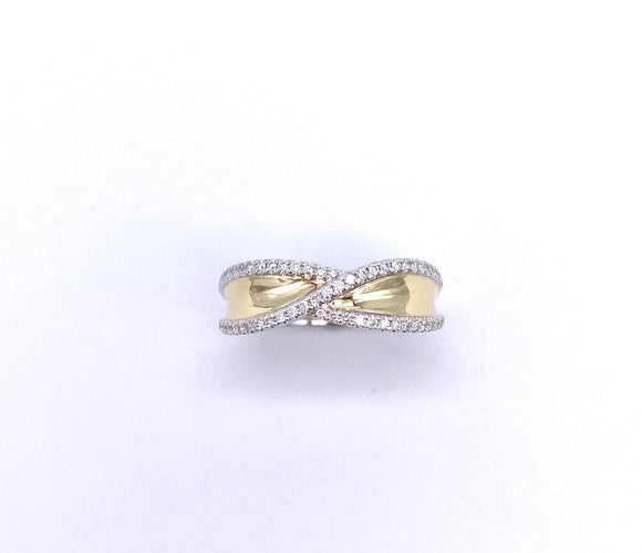 Two Tone Diamond Band Ring A070FD12480