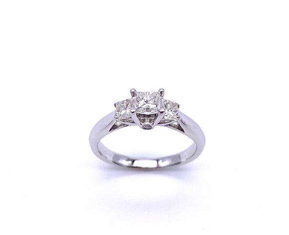 Princess Cut Three Stone Diamond Ring A245HDR1414P