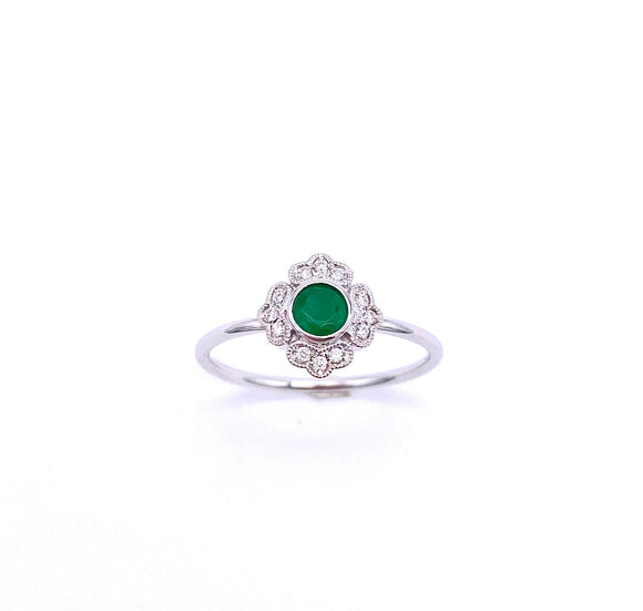 Emerald and Diamond Ring C087RM3921W
