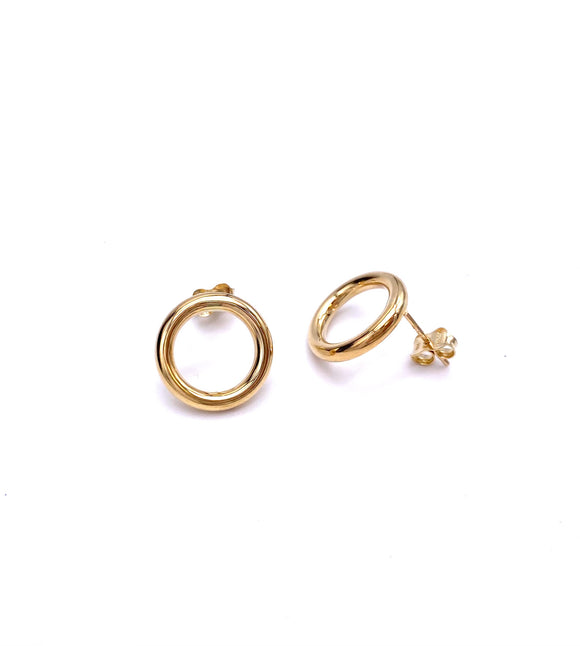 Simple Circle Earrings in Yellow Gold F341LE1489