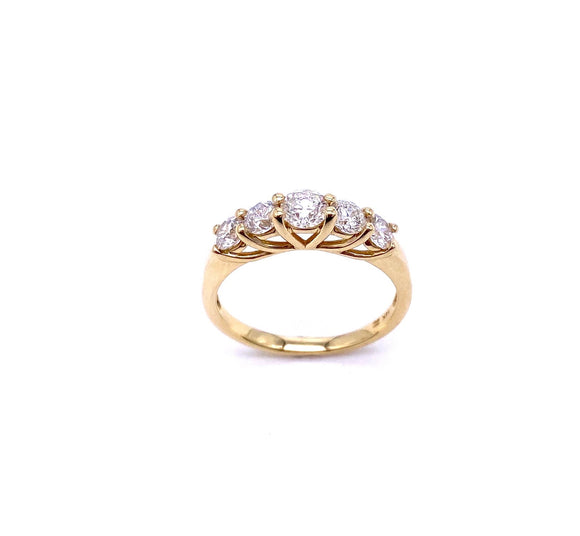 Five Stone Diamond Ring in Yellow gold A330B360342