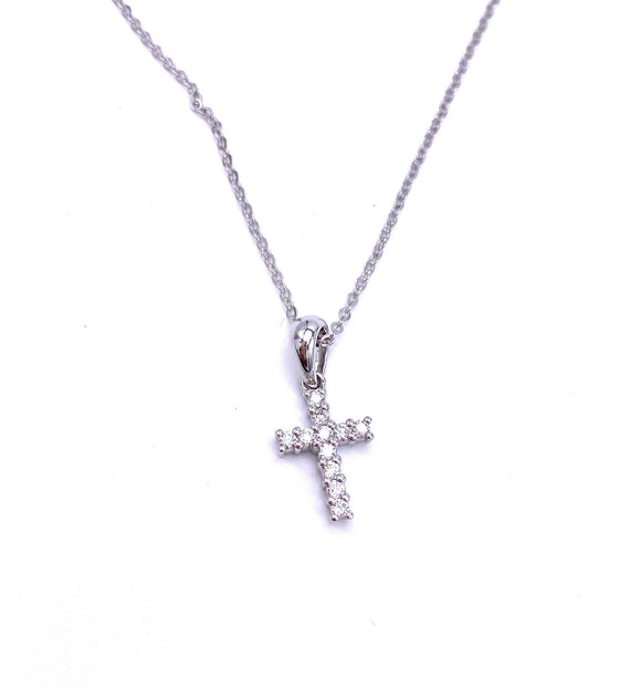 Diamond Cross Necklace A401N01197RDW
