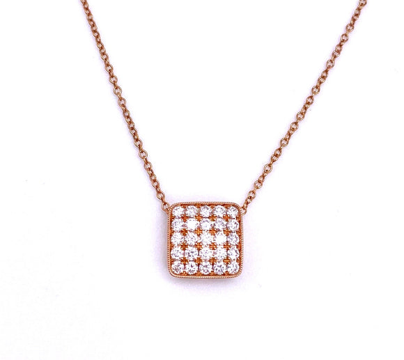 Rose Gold and Diamond Necklace A819PD8190050D4R
