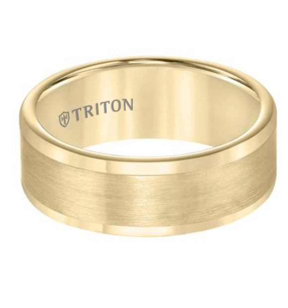 Yellow Triton Tungsten Carbide Wedding Band D00511-2118YELLOW
