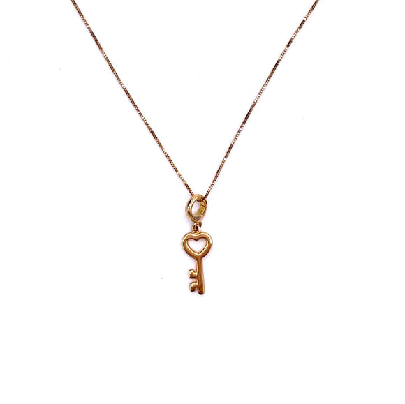 Yellow Gold Key to My Heart Necklace F81884625
