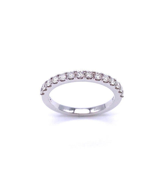 White Gold Diamond Band A038WCZ0015.47