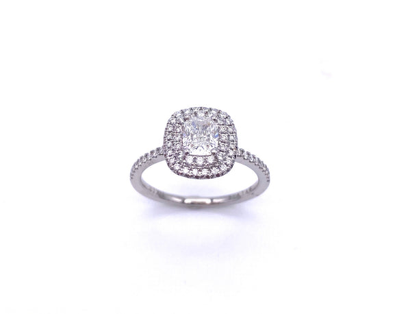 Sylvie Cushion Cut Diamond Engagement Ring A819SI086PC01