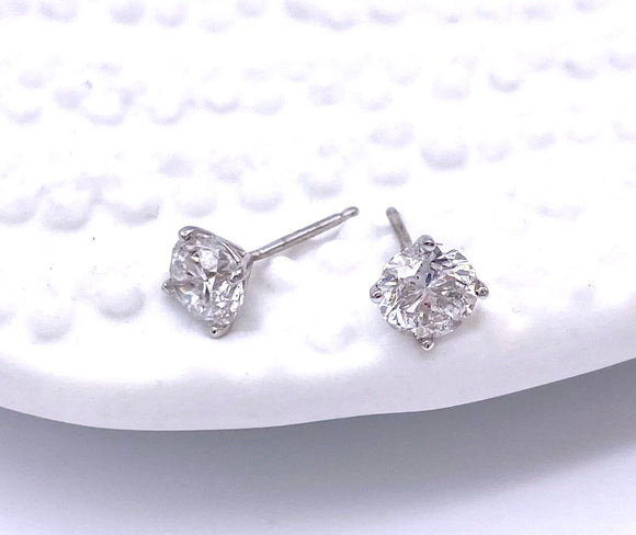 .35 Carat Total Weight Diamond Stud Earrings A025.35