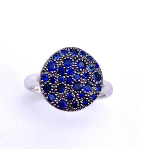 Pave Sapphire Ring C804RG02665WG