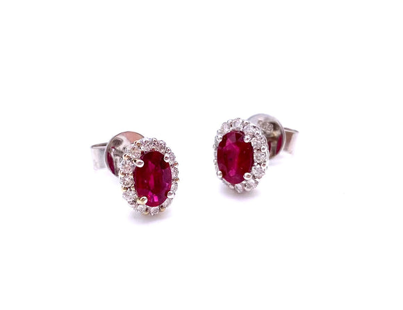 Oval Ruby Earrings by Pe Jay Creations F070CC36/14W