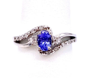 Oval Tanzanite and Diamond Ring C05081-8739W