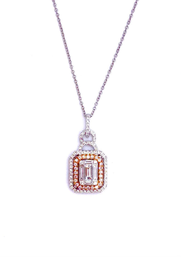 Simon G White and Pink Diamond Necklace A846LP4316