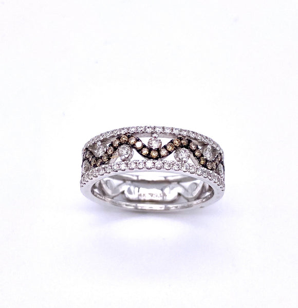 Chocolate and White Diamond Ring A093TR864WBA