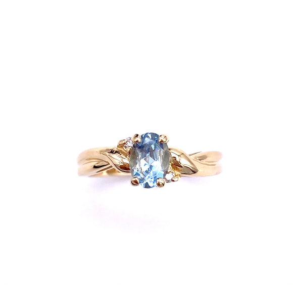 Aquamarine Ring in Yellow Gold C3905351FD11