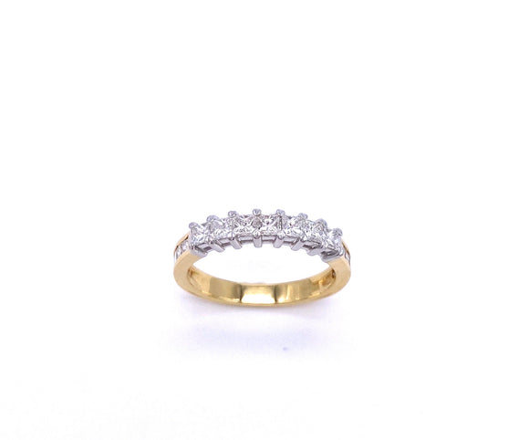 Yellow Gold Princess Cut Diamond Band A807WP175350/7