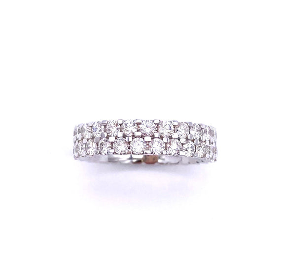 Double Roe Diamond Eternity Band A401WB01037
