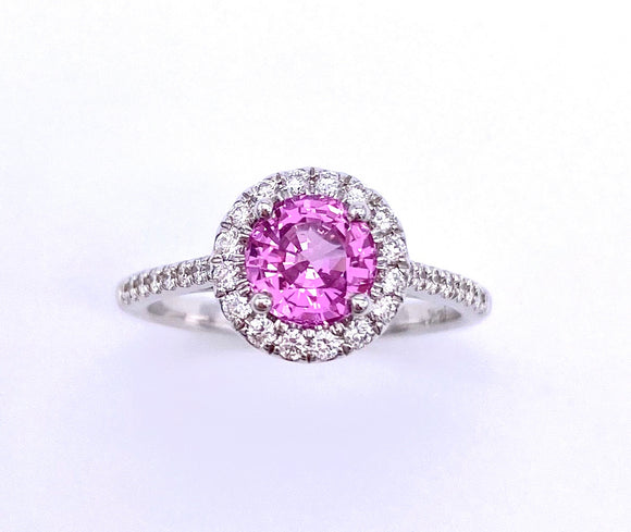 Pink Sapphire and Diamond Ring C038LC10238