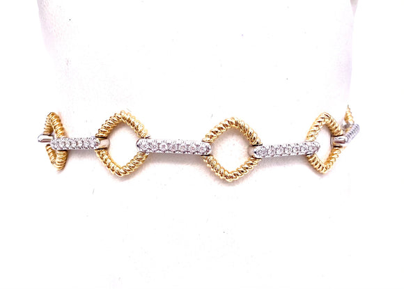 Two Tone Diamond Bracelet A604BR2443WY