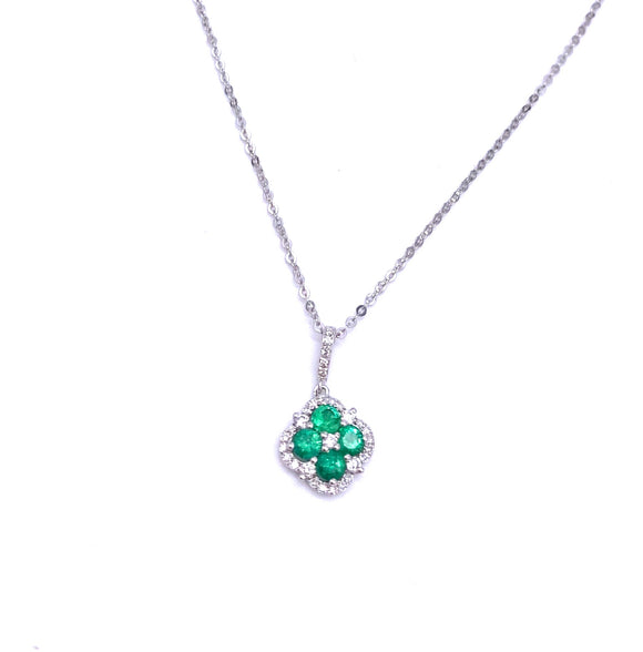 Emerald and Diamond Necklace F401N01714EMW
