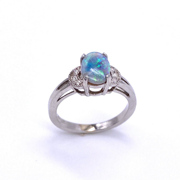 Black Opal Ring W/ Diamonds C3905380
