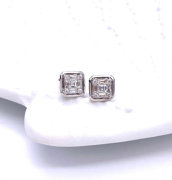 Simon G Mosaic Set Diamond Stud Earrings A846LE4449
