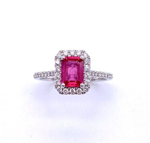 Vibrant Pink Sapphire and Diamond Ring C038LC10239