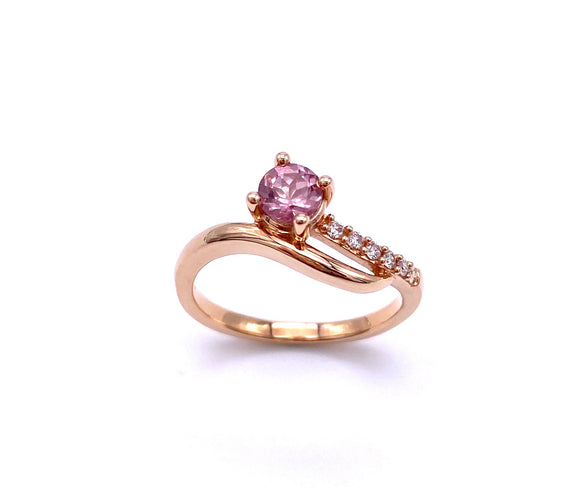Lilac Garnet Ring With Diamond Accents in Rose Gold C368RPF173LG2R