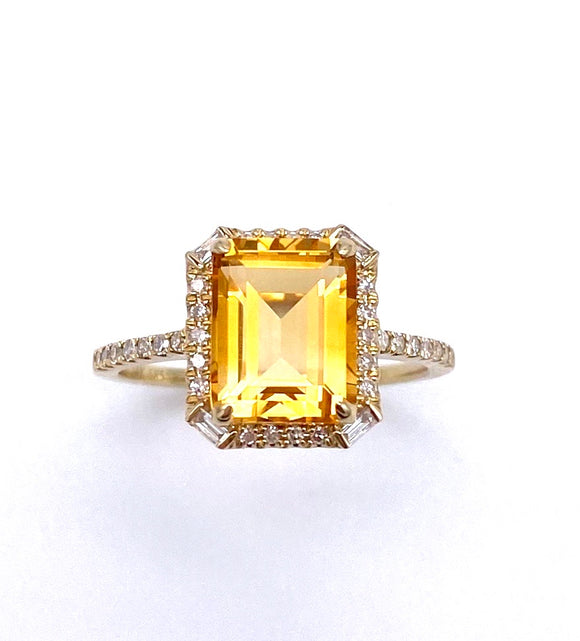 Citrine and Diamond Ring C401RO3940CTY