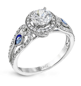 Simon G Diamond and Sapphire Engagement Ring A846LP2353